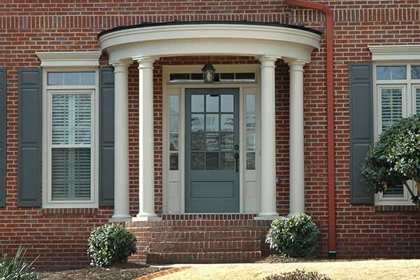 21 best rounded semi circular porticos images on for Round porch columns