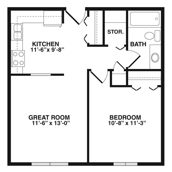 32 Best Images About Floor Plans On Pinterest Basement Apartment Layout And Bath