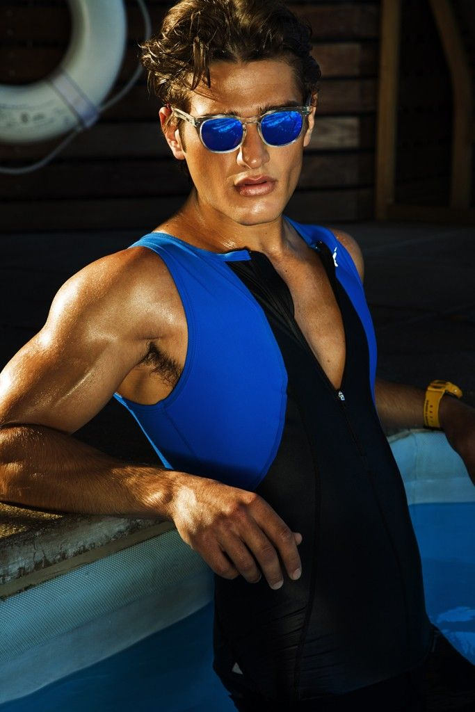 Men's Wear Trend: Man in the Mirror (Spektre's sunglasses. Nike polyester and spandex trisuit.) [Photo by Renie Saliba]