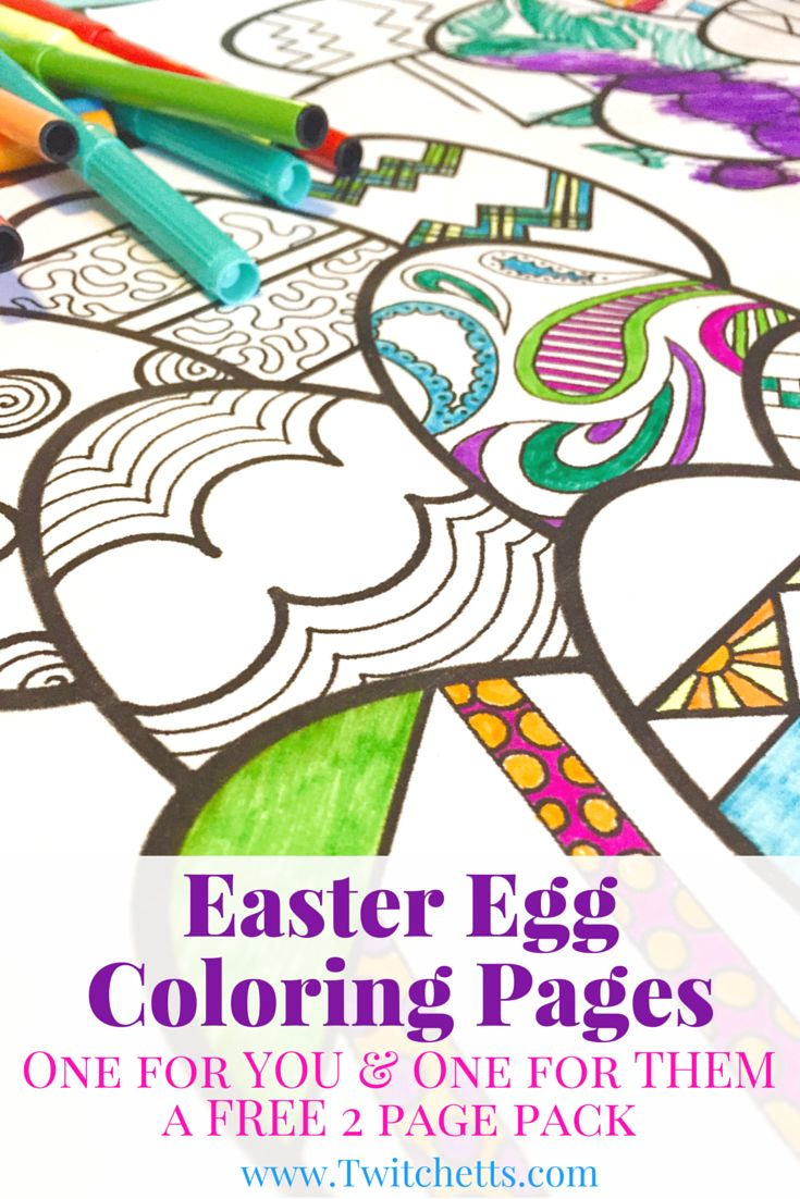 Spring coloring pages for elementary students - Easter Egg Coloring Pages Easter Printables