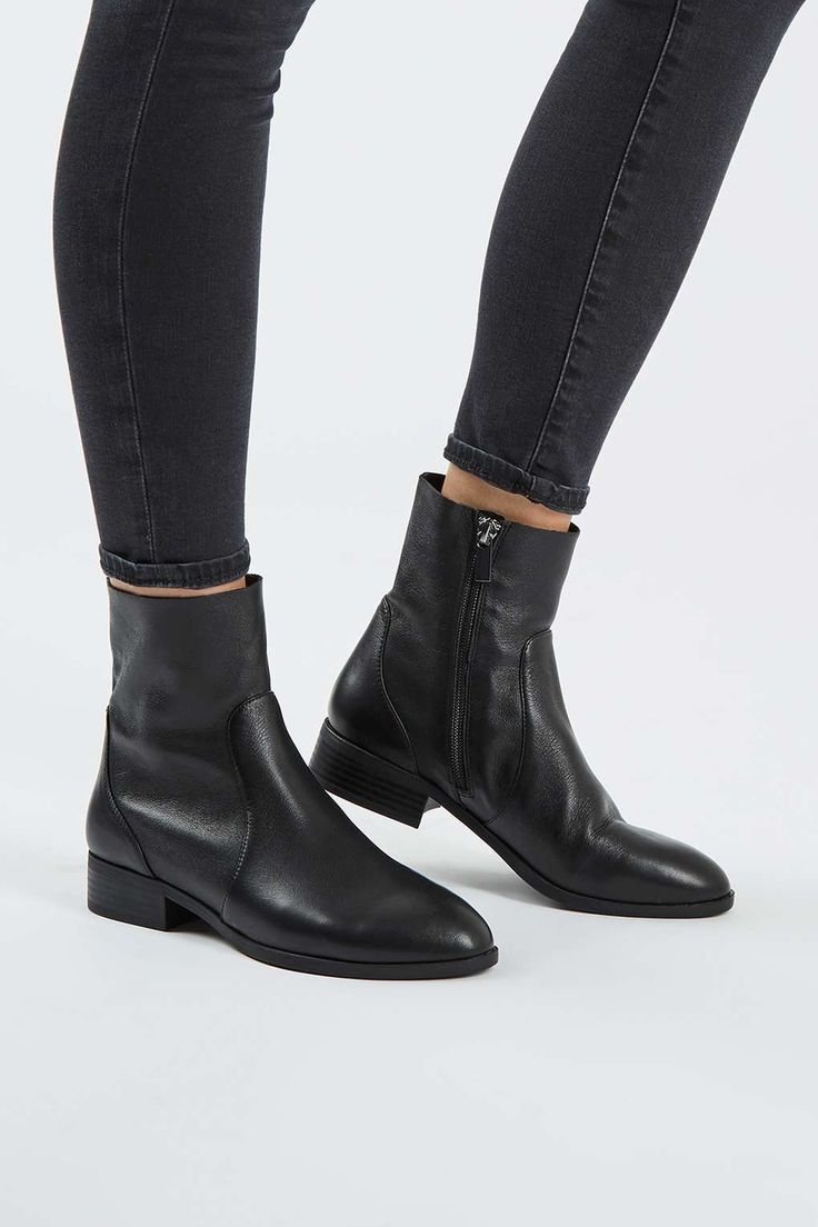 KLASH Leather Sock Boots - Shoes- Topshop
