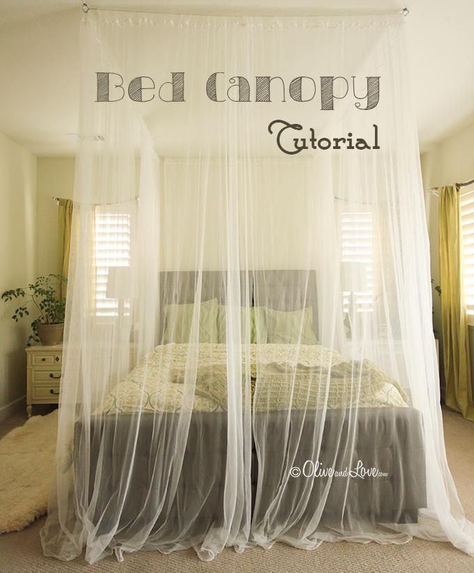 DIY Bedroom Furniture :DIY Canopy Bed : DIY  Ceiling Mounted Bed Canopy