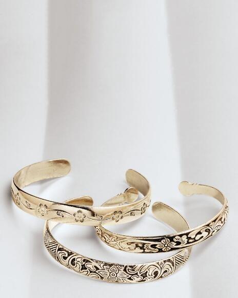 Miao Silver Flower Cuffs