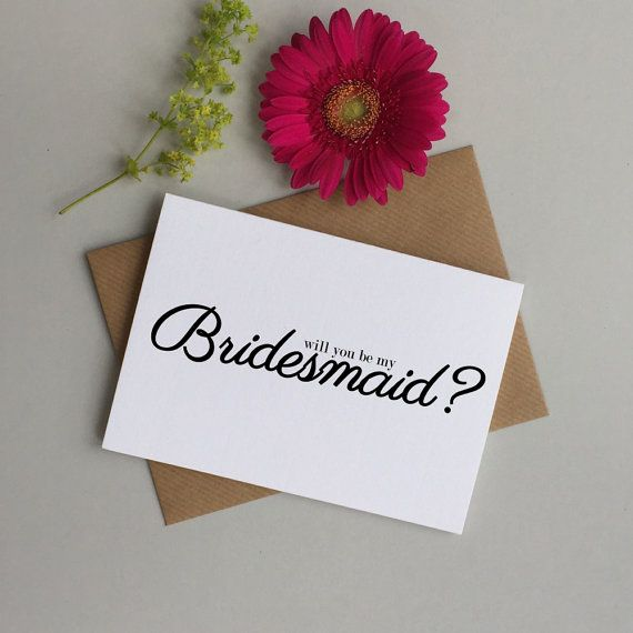 Will you be my bridesmaid card. Will you be my Flower girl. Maid of honour card. Be my Bridesmaid wedding card