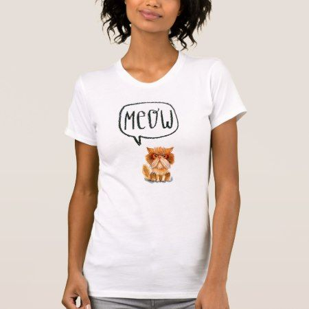 Grumpy ginger persian cat T-Shirt - tap, personalize, buy right now!