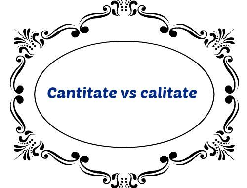 Cantitate vs Calitate