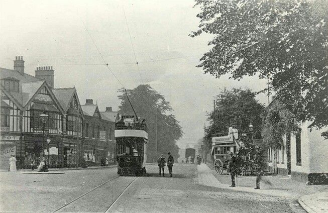 Gatley Road, Cheadle in 1908