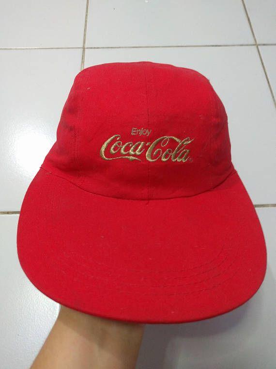 Vintage 80s Enjoy Coca-Cola Classic Coke Red strapback Hat Cap