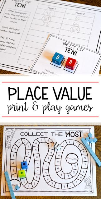 I love EASY no prep math games! These black and white place value games are perfect for first grade students. All they need are some dice, crayons and base ten blocks to play!