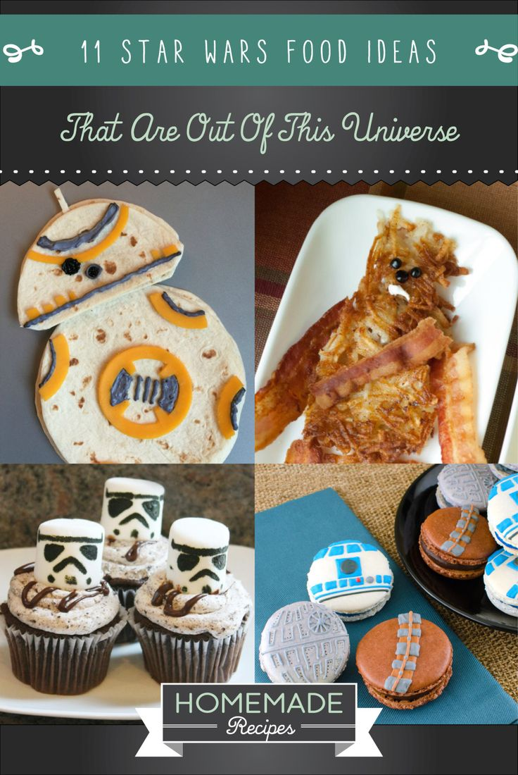 11 Star Wars Food Ideas That Are Out Of This Universe | Fun And Creative DIY Party Food Ideas by Homemade Recipes at  http://homemaderecipes.com/entertaining/parties-gatherings/11-star-wars-food-ideas/