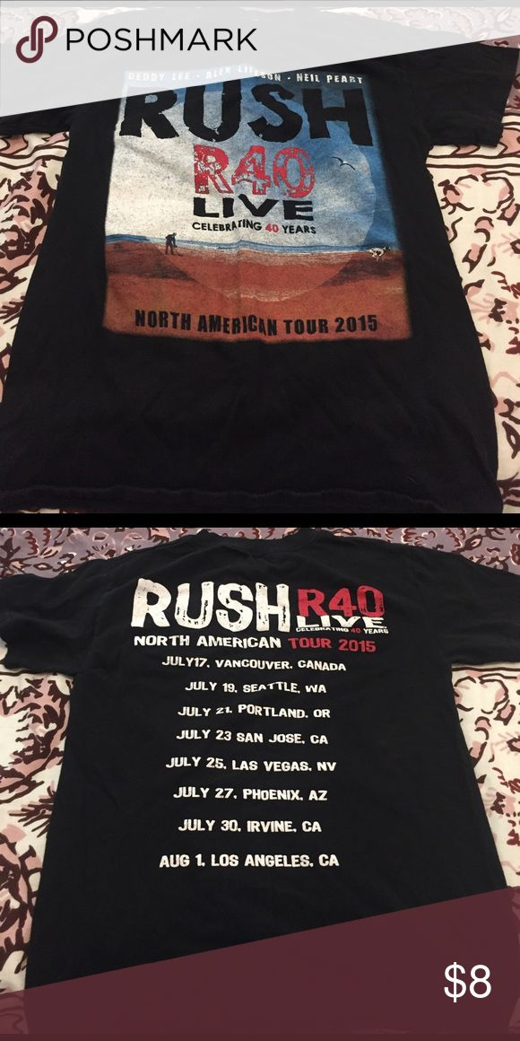 rush concert tee rush tee shirt from their 40th year North American tour Shirts