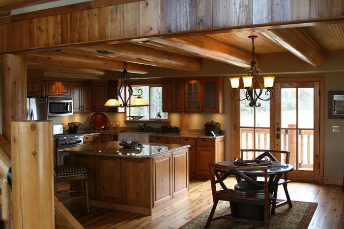 Best 25 Log Home Kitchens Ideas On Pinterest Log Cabin Kitchens Rustic Homes And Log House