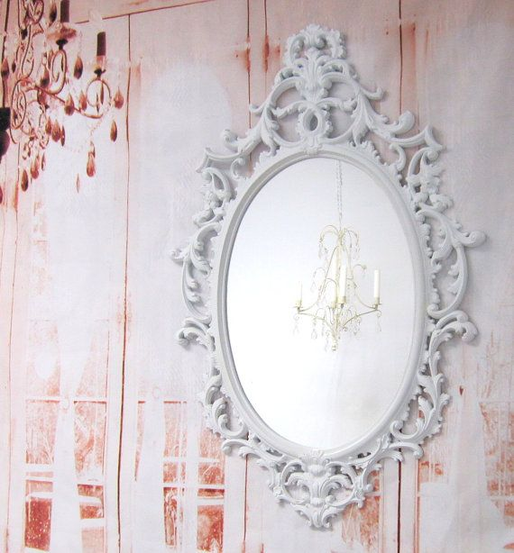 White HOLLYWOOD REGENCY MIRROR For Sale By RevivedVintage On Etsy 18900
