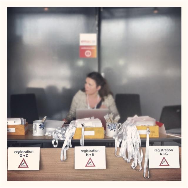 Registration desk @ EMAC 2012