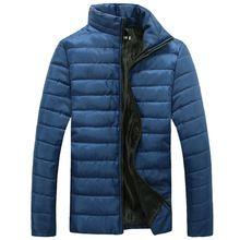 2016 Novos Outono e inverno dos homens Dos Homens casaco de algodão acolchoado com espessura tamanho masculino do revestimento do revestimento