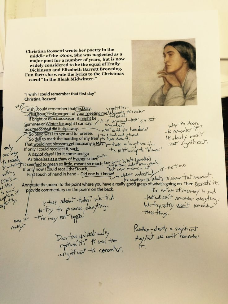 Don't Hate! Annotate! How To REALLY annotate a poem.