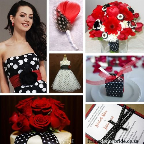 #polka dot wedding #afloral shop wedding flowers and wedding decorations www.afloral.com: Red And White, Polka Dots Wedding, White Wedding, Color, Black And White, Wedding Ideas, Black White Red, Red Wedding, Red Black