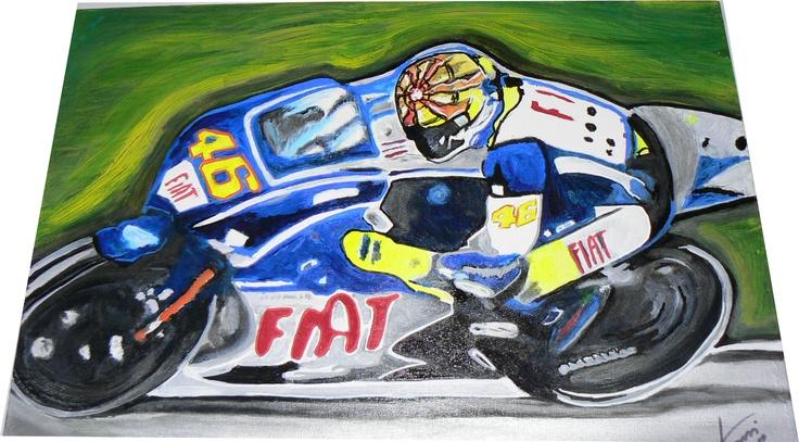 Valetino Rossi 2010! Amanti delle moto! #motogp #handmade #pop #art #famous #paint #colore_italiano #madeinitaly #italia