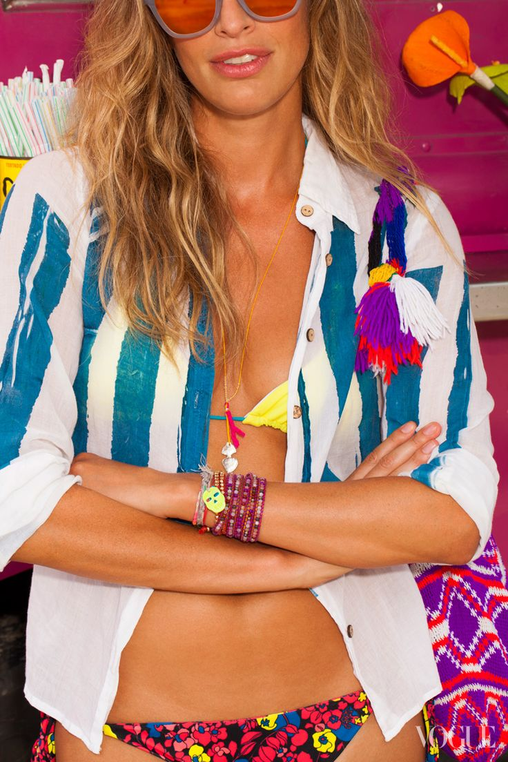 so happy and colorful..yeah, i wanna be on the beach right now: Summer Fashion, Summer Wear, Beaches Outfit, Summer Color, Charms Bracelets, Beaches Styles, Friendship Bracelets, Valeri Boster, Fashion Shooting