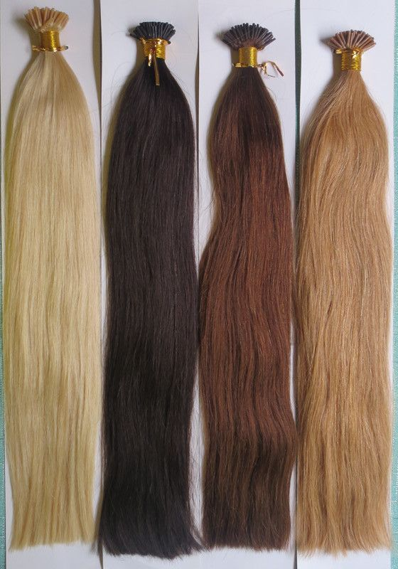 Indian Remy Human Hair Extensions Premium Double Drawn I Links
