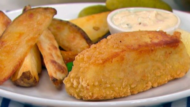 Dish Do-Over: Fish and Chips, Made Healthier | Steven and Chris | Chef Jo Lusted shares another Dish Do Over. This time she's tackling Fish and Chips, with Tartar sauce too!