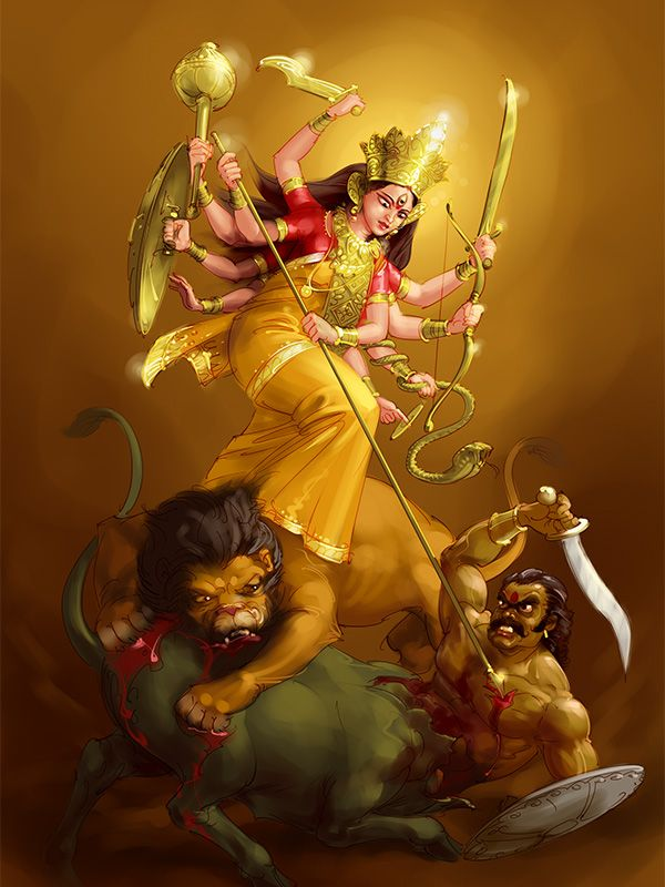 Durga by scorpy-roy.deviantart.com on @DeviantArt