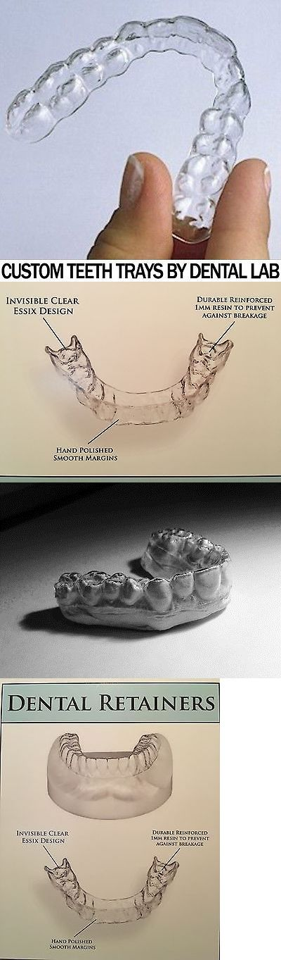 Other Oral Care: Custom-Fit Set Of Orthodontic Dental Retainers~ Upper And Lower~Made By Dentist BUY IT NOW ONLY: $95.99