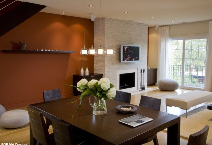 Oranje Muur Keuken En Woonkamer Pinterest