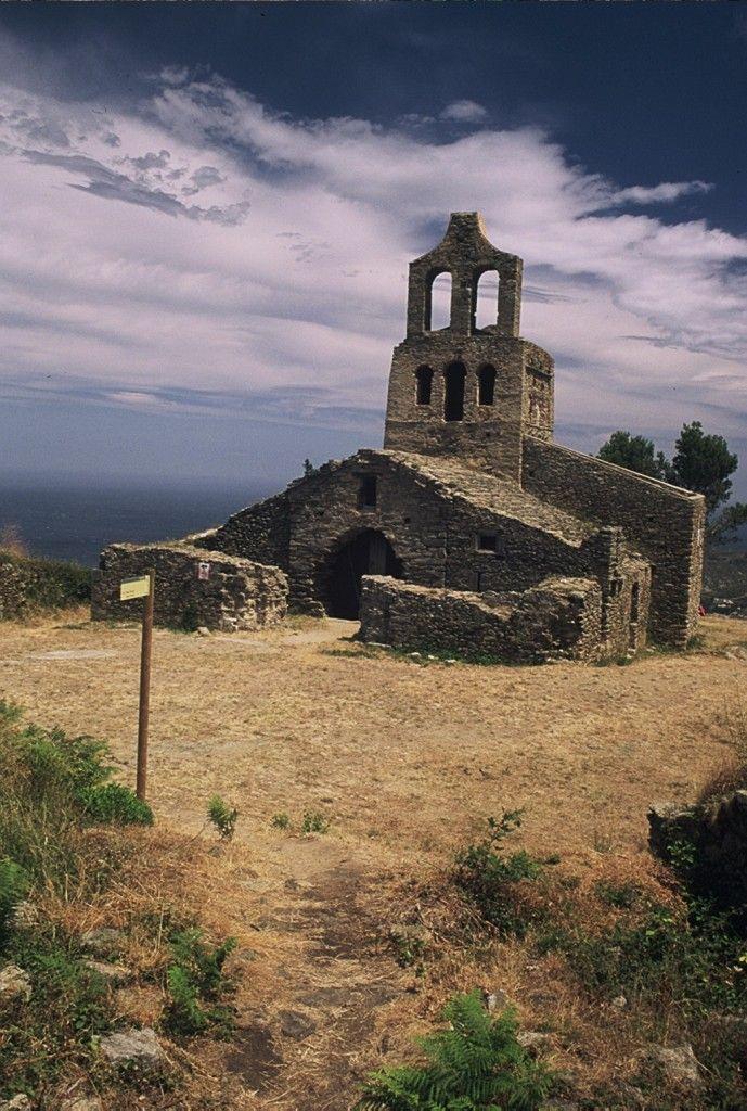 Santa Helena de Rodes Romanesque Church (between IX and XVIII) near Sant Pere de Rodes, Port de la Selva (Alt Empordà). Catalonia