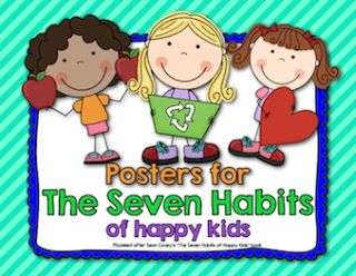 FREE 7 habits posters!!! Made in rainbow theme or red/white/black/silver!!