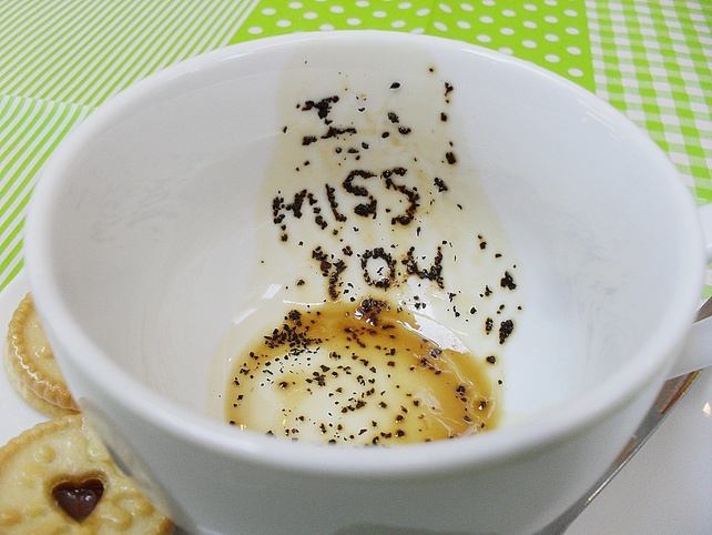 What a lovely idea - Messages in Tea Cups £15.00