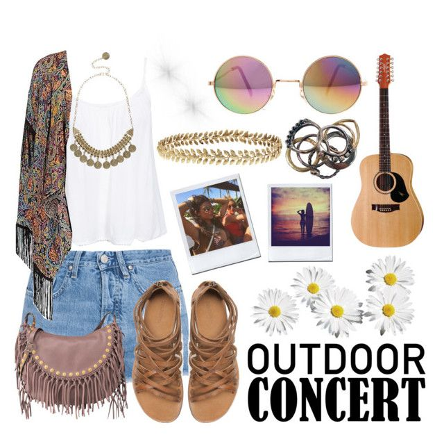 """OUTDOOR SUMMER CONCERT"" by silvia-pbx ❤ liked on Polyvore"