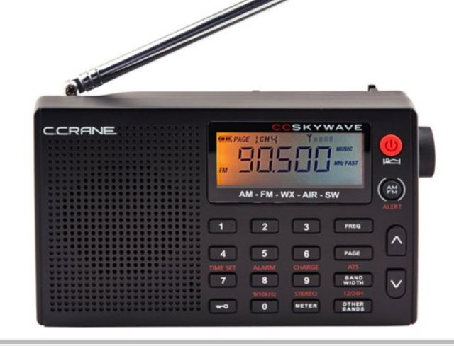 Put the CC Skywave Portable Radio in Your Go Bag - Small and Powerful: C. Crane's CC SkyWave Radio