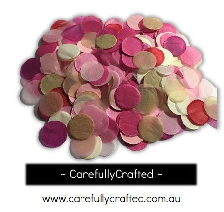 CarefullyCrafted - 25 Grams Tissue Paper Confetti - Gold, Pink, Red and White - 1 inch Circles  - wedding, wedding planning, party, event, decoration, event décor, paper pieces, confetti, fun, tableware, gold, pink, red, confetti mix http://carefullycrafted.com.au/25-grams-tissue-paper-confetti-gold-pink-red-and-white-1-inch-circles-cc4/