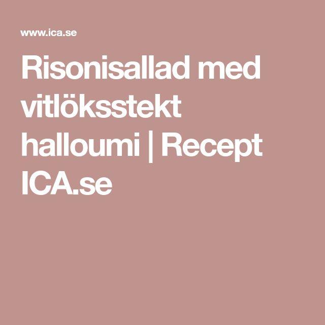 Risonisallad med vitlöksstekt halloumi | Recept ICA.se