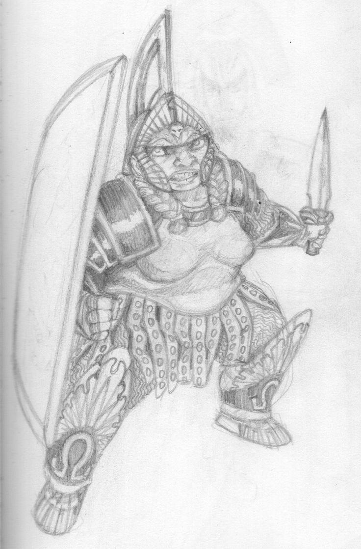 female dwarv knight (or amazon)