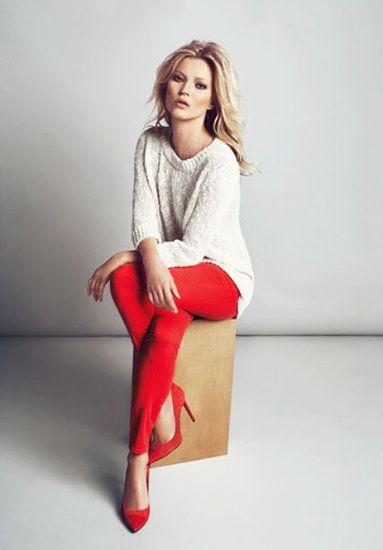 Kate Moss For Mango Fall 2012 #redpants