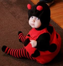 """Awww... so cute!""  Love the ladybug baby costume."