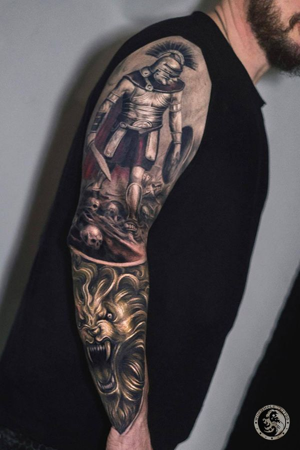 Black And Gray Tattoo For Men By Tattoo Artist Darwin Enriquez Usa In 2020 Black And Grey Tattoos For Men Grey Tattoo Black And Grey Tattoos