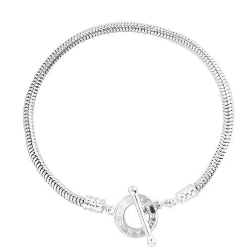 De Buman Sterling Silver Toggle Clasp Charm Bracelet De Buman. $49.99. Save 51%!
