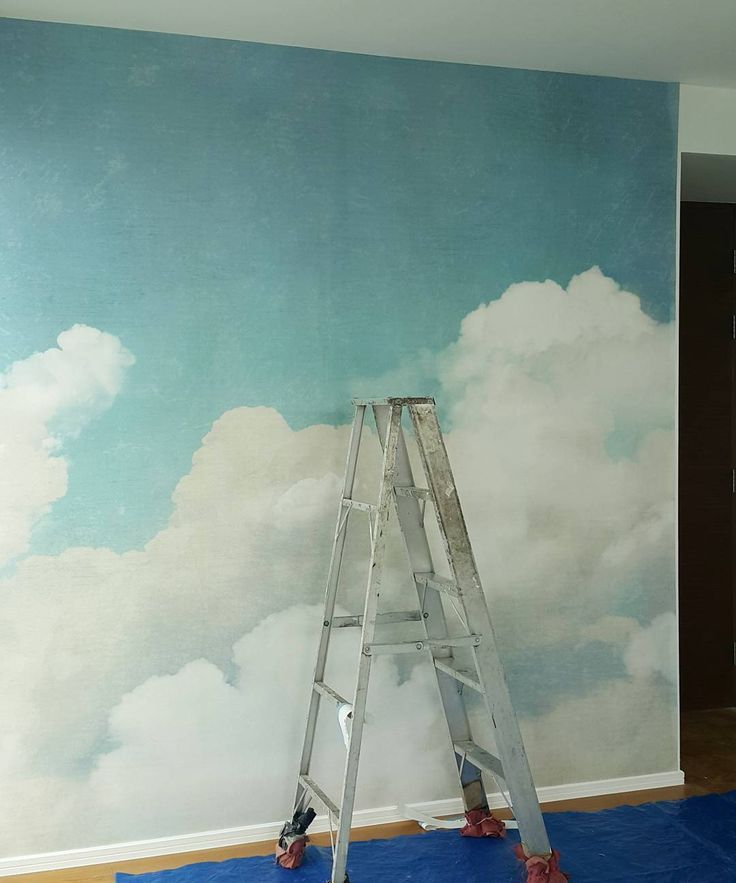 87 best skies images on pinterest painted ceilings for Ceiling cloud mural