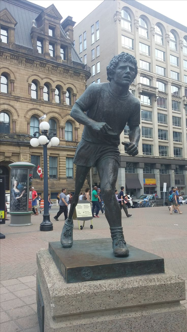Terri Fox Monument in Ottawa.