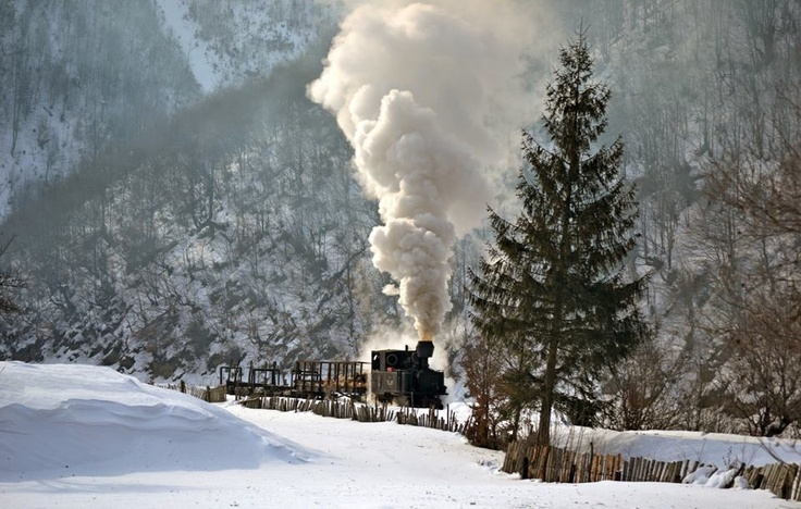 Mocanita train in winter :)