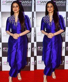 Beautiful in blue • At Anu Malik's honour bash - #Tabu #AnuMalik #Event #Party #Bollywood #Friends #Tabufc