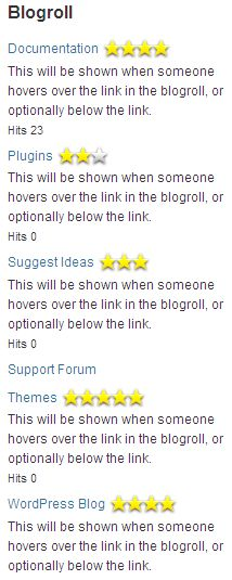 Best WordPress plugin for adding a link widget in a blog with hit counters and ratings