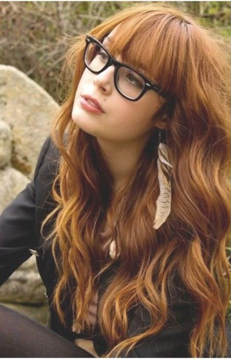 Long Curly Hairstyles with Trendy Bangs 2016   Haircuts, Hairstyles 2016 and Hair colors for short long