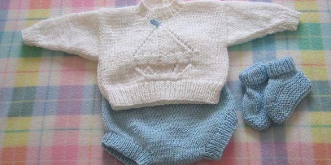 Yeni Doğmuş Erkek Bebek Kıyafetleri Örgü Modelleri