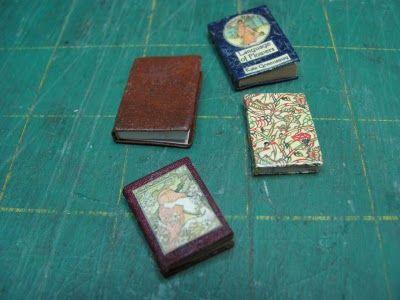 Dollhouse Miniature Furniture - Tutorials | 1 inch minis: how to make miniature books