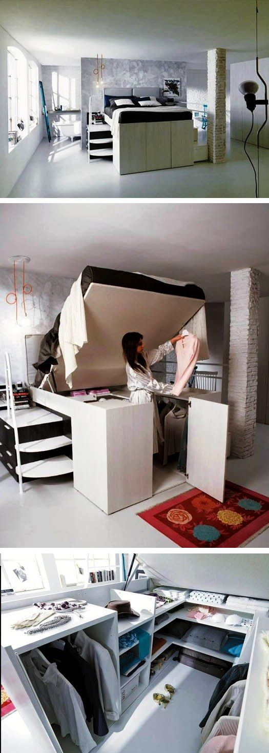 compact bed with closet space 347 best