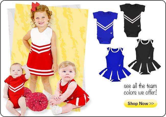 They are too cute! Shop Our New Infant and Toddler Uniforms!  Get your baby spirited this season: http://shop.varsity.com/shop/uniforms/youth/